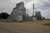 Trosky, Minnesota Old Wood Grain Elevators.