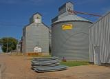 Hadley, Minnesota Old Wood Grain Elevators.