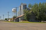 Fulda, Minnesota Old Wood Grain Elevator with Metal Siding.