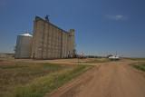 Rush Center, Kansas Concrete Grain Elevator.