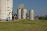 Lehigh, Kansas Old Wood Grain Elevator.