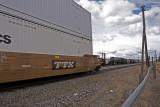 Stack Train and the Big Boy at Laramie, Wyoming.
