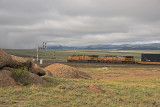 East Bound UP Stack train at Hermosa, Wyoming.