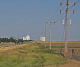 Hickok, Kansas Concrete Grain Elevators..
