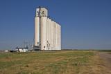Hickok, Kansas Concrete Grain Elevator.