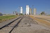 Milepost, Kansas (Sulivan) Concrete and Wood Grain Elevators.