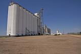 Big Bow, Kansas Concrete Grain Elevators.