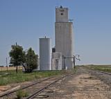 Saunders, Kansas East Concrete Grain Elevator.
