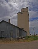 Fort Lyon, Colorado Concrete Grain Elevator.