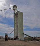 Metal Grain Elevator located at Lamar, Colorado.