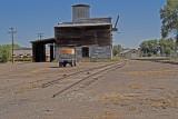 La Jara, Colorado old built grain elevator.