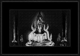 GRAPHIC BUDDHA SCULPTURES AND TEMPLES IN B/W AND TONED
