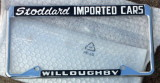 STODDARD IMPORTED CARS Willoughby License Plate Frame Vintage