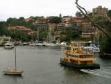 Ferry approaching Mosman wharf