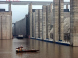 Entering the locks, Three Gorges Dam