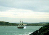 Endeavour firing a salute, Coffs Harbour, 2000