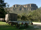Old wagons from the Newnes train line