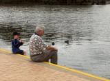 Two boys, Lake Belvedere