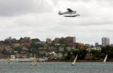 Floatplane over Shark Island