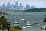 Sydney CBD skyline and the harbour