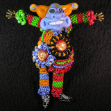 #482: Sharon Peters & Barb McClean: Jester Size: 3.60 W x 4.05 H Price: $150