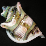 #518: Sumo Glass, Echoes of the Ocean Size: 6.50 x 4.11 Price: $225