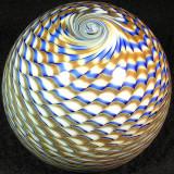 #521: Stuart Abelman, Golden Gazillion Size: 2.43 W x 2.18 H Price: $50