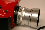 Red Pentax with Color-Skopar and Xenar at Fenton Greenway