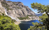 Wapama Falls as seen from the Wapama Falls Trail in the Hetch Hetchy Valley of Yosemite NP