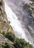 The raging waters of Wapama Falls in the Hetch Hetchy Valley of Yosemite NP