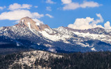 Mount Clark (11,522 ft.) as seen from Glacier Point in Yosemite National Park