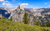 Yosemite Valley and Nevada and Vernal Falls as seen from Glacier Point in Yosemite National Park