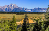 Mount Moran (12,605 ft) from the Snake River Overlook in Grand Teton National Park