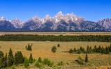 The Teton Mountain Range from US 89 in Grand Teton National Park