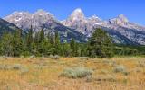 Grand Teton Peak from along the Teton Park Road in Grand Teton National Park