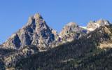 Rugged peaks in the Teton Range in Grand Teton National Park