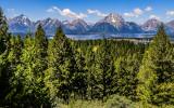 The Teton Range as seen over Jackson Lake from Signal Mountain in Grand Teton National Park