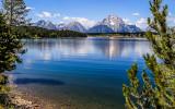Mount Moran from across Jackson Lake from the Teton Park Road in Grand Teton National Park