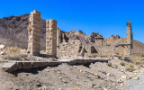 Bishop Jewelry Store and Cook Bank ruins in the Rhyolite Historic Townsite