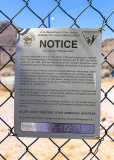 Bureau of Land Management (BLM) posting in the Rhyolite Historic Townsite
