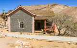 Three room Tom Kelly bottle house in the Rhyolite Historic Townsite