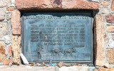 Cemetery memorial plaque (placed in 1959) in the Rhyolite Historic Townsite