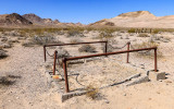 Plots in the Rhyolite cemetery in the Rhyolite Historic Townsite