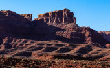 Late sunlight on a rock formation in Valley of the Gods