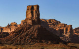 Castle Butte before sunset in Valley of the Gods