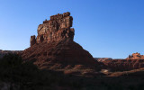 Stagecoach Rock in the late day sun in Valley of the Gods
