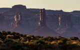 Castle Butte at sunset in Valley of the Gods