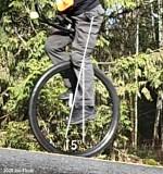 Knee angle 15° on 12% uphill grade