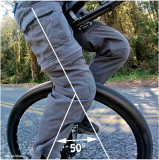 Knee angle 50° on level road