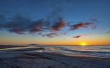 Late Autumn sunset off Otaki Beach
